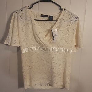Pretty Lace Top really light cream near white